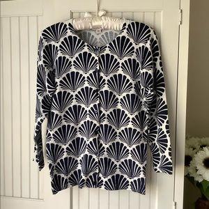 Navy & White Seashell Cardigan Sweater 🐚